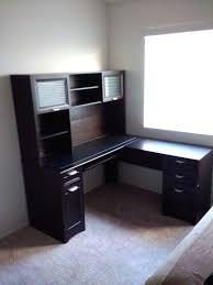 office depot l desk office depot black desk with hutch