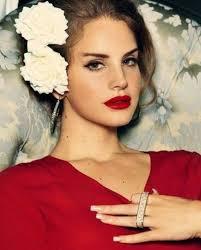 50s makeup trend mascara eyeliner red color lipstick