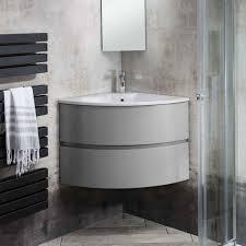 bauhaus svelte wall hung corner vanity unit with basin