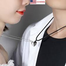 <b>2Pcs</b> Couple <b>Love</b> Necklace Magnet Suction Wishing <b>Stone</b> ...