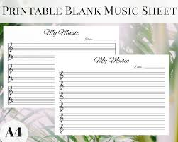 print out blank music sheet music sheets a4 music sheet planner inserts blank music page