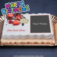Birthday Cake With Name And Photo Edit Birthdayphotoframescom