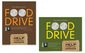 Food Drive Posters Holiday Food Drive Fundraiser Poster Template Word Publisher