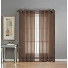 com window elements sheer elegance grommet 108 x 84 in curtain panel pair chocolate home kitchen