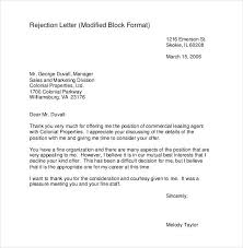 Rejection Letter Sample Awesome 44 Rejection Letters Template HR Templates Free Premium