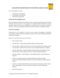 Accounting Operations With Peachtree Course Outline