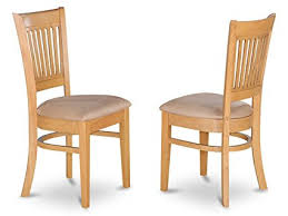 east west furniture vac oak c microfiber upholstered seat dining chairs oak finish