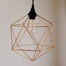 himmeli hanging brass light pendant
