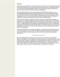 Bnsf Organizational Chart Employee Web Use Monitoring At Bnsf Railway Pdf Free Download