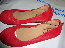 details about french sole fs ny soft red leather ballet flats shoes womens 6 5 37 italy