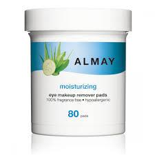 almay moisturizing eye makeup remover pads 80 pads