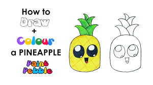 pineapple drawing step by step. how to draw a cute pineapple step by | easy drawing for kids