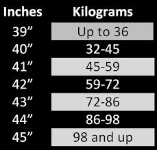Water Ski Size Chart Ski Size Charts Crisp Water Sports