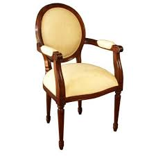oval back dining chair. Oval Back Carver With Arms And Rounded Tapered Legs, Hand Carved. Dining Chair E