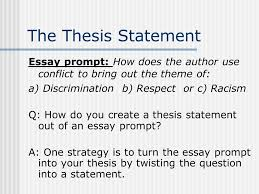 wbc essay how to begin the prompt essay prompt how does the  the thesis statement essay prompt how does the author use conflict to bring out the
