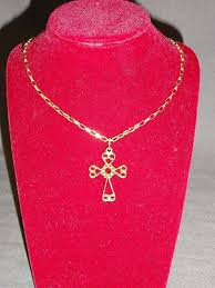 9ct yellow gold celtic style scroll cross pendant on 17 4 59g attractive chain nnkb7414 precious metal without stones
