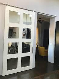 custom mirror painted shaker barn door