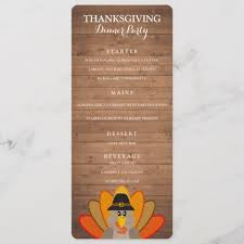 Party Menu Template Thanksgiving Dinner Party Menu Template