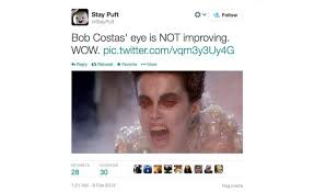 Bob Costas Eye Memes: Top 10 Funny Internet Jokes, Tweets About ... via Relatably.com