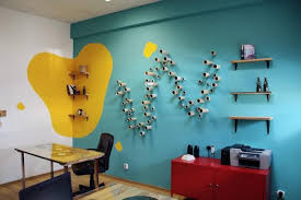 Office wall design Cool Modern Office Design And Decorating Ideas Homedit Bright Colors And Creative Wall Decorations For Modern Office Design