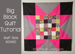 Big Block Quilt Patterns For Beginners Beauteous Big Block Quilt Pattern Bits Of Everything