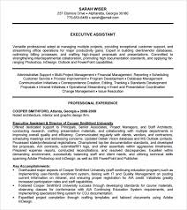 Executive Assistant Resume Templates Best 48 Sample Administrative Assistant Resume Templates To Download