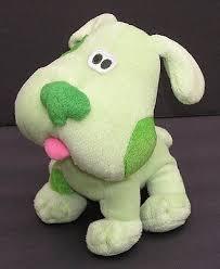 Blues Clues GREEN PUPPY Plush Dog 7 Stuffed Animal 2001 Viacom