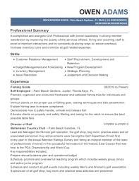 golf professional resume best first assistant golf professional resumes resumehelp