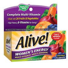 nature s way alive women s energy multivitamin multimineral tablets50ea