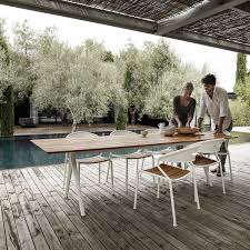 gloster outdoor furniture. The Gloster - Curve Chair With Matching Table On Terrace Outdoor Furniture
