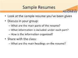 Awesome What Are The Main Parts Of A Resume Contemporary - Simple .