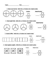 Fractions, Worksheets and Numbers on PinterestFraction/Mixed Number Worksheet
