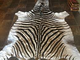 a grade is a top quality african zebra hide that originates from south africa the zebra hide rug is about 2 6 m in length and 1 8 m wide