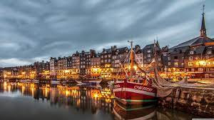Honfleur Port, France, Europe Ultra HD ...