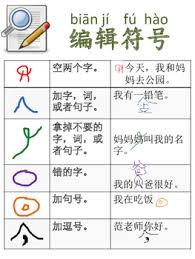Editing Marks For Writing Chinese Immersion