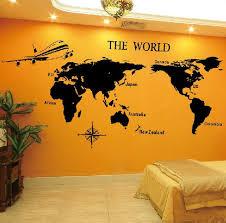 world map decal vinyl lovely vinyl decal world map tv home house art decals