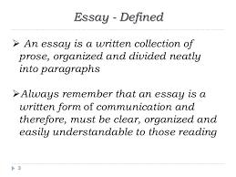 writing an academic essay essay defined