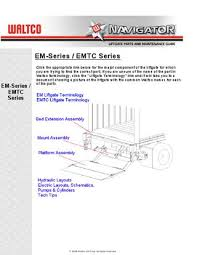 waltco em series liftgate by the liftgate parts co issuu page 1