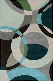 amazing art carpet arbor grayteal area rug reviews wayfair in teal and gray area rug