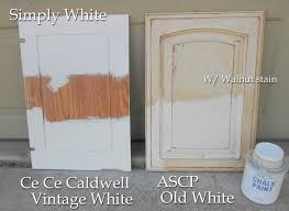 paint cabinets whitekitchen cabinets CC ASCP compare outdoors painted oak bathroom