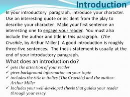 introduction paragraph for the crucible essay << research paper help introduction paragraph for the crucible essay