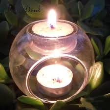 Wedding Tea Light Holders Us 3 29 19 Off Elegant Tea Light Glass Candle Holders Wedding Table Centrepiece Wax Pillar Case 8 12cm In Candle Holders From Home Garden On