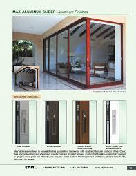 aluminum sliding door finishes