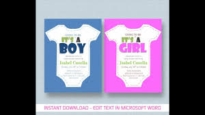 Word Template For Invitation Baby Shower Invitation Template For Ms Word