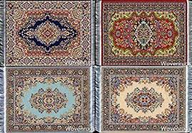 set of 4 dolls house rugs for dollhouse furniture miniature woven dollhouse carpet 6