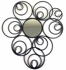 on metal wall art mirror uk with metal wall art abstract circle disc mirror