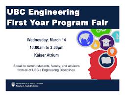 Ubc Graphic Design Program Ubc Engineering First Year Program Fair Ubc Civil