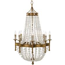 regina andrew design scalloped frosted crystal bead chandelier