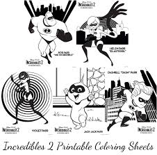 What a fun way to get ready for the newest incredibles movie. Incredibles 2 Printable Coloring Sheets Momstart