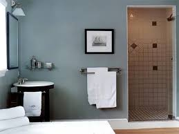guest bathroom design. Great Gray Guest Bathroom Ideas With Wall Mount Towel Bar In Chrome As Well Subway Tile Shower Room Panels Design